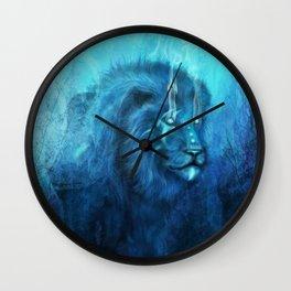 Blue Spirit Lion Wall Clock