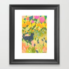 The Cat & The Universe Framed Art Print