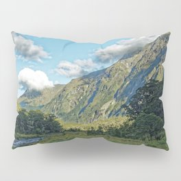 Monkey Creek, New Zealand Landscape Pillow Sham