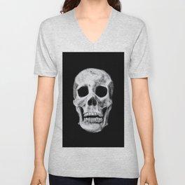 Skull on Black Unisex V-Neck
