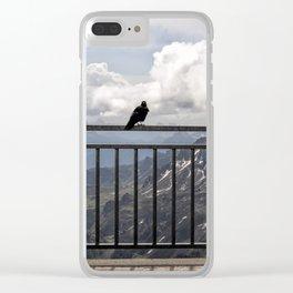 Birds on a Rail in Sass Pordoi Clear iPhone Case