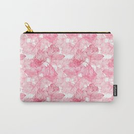 Pink Roses Pattern Carry-All Pouch