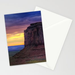 Monument Valley desert sunset Navajo Nation Colorado Plateau Utah USA America Stationery Cards
