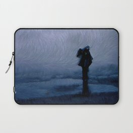 Silhouette in the fog Laptop Sleeve
