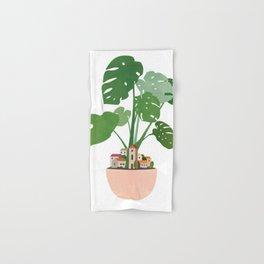 Plant Pot Village (no2) Hand & Bath Towel