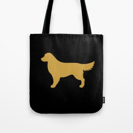 Golden Retriever (Black/Gold) Tote Bag
