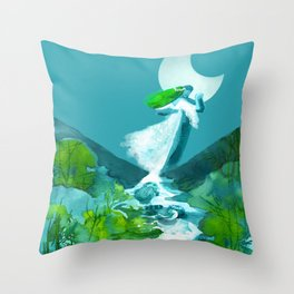 Dancing with a nymph Throw Pillow