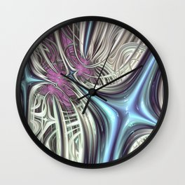 Cosmic Orchid - Fractal Art Wall Clock