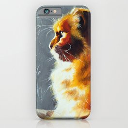 Animal - Gambo the intrepid cat - by LiliFlore iPhone Case