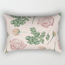 Flower Shop Roses on Blush Pink Rectangular Pillow