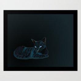 Biscut the Tabby Cat Art Print