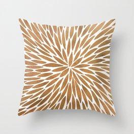 Rose Gold Burst Throw Pillow