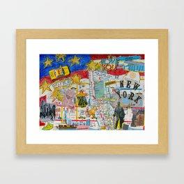 New York City Collage Framed Art Print