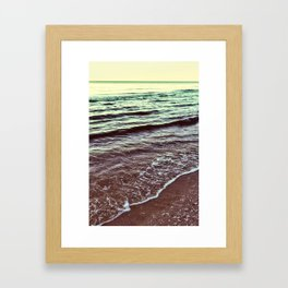 Green Ocean Waves Framed Art Print