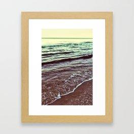 Green Ocean Waves Framed Art Print