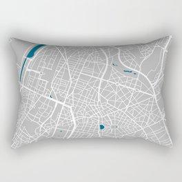 Brussels city map grey colour Rectangular Pillow