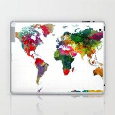 World Map - Watercolor Laptop & iPad Skin