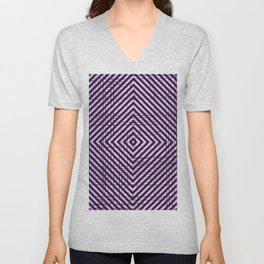 The System - Purple Unisex V-Neck