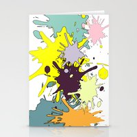 splatter Stationery Cards featuring Splatter by fauzita