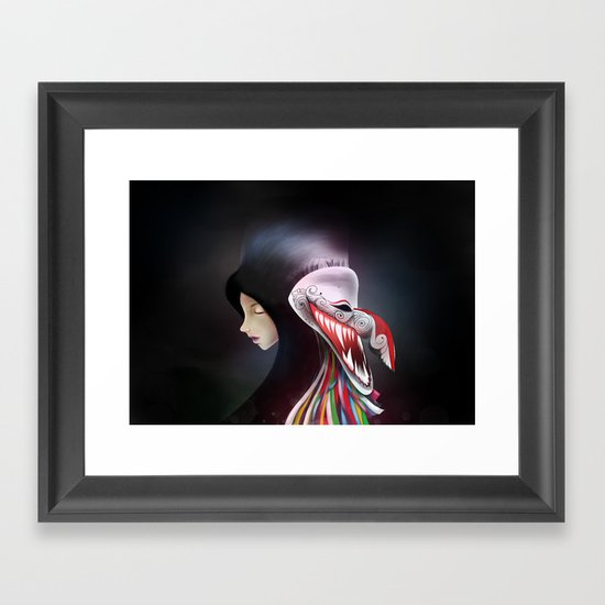 women_ผีตาโขน Framed Art Print
