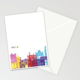 Parma skyline pop Stationery Cards