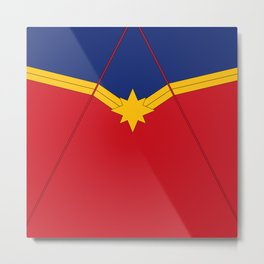CaptainMarvel Costume Metal Print
