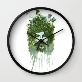 God of Nature Greenery Plantdad daddy  Wall Clock