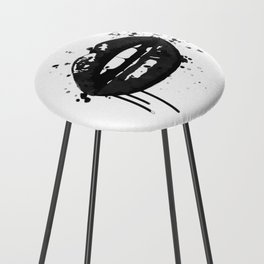 Black and white glamour fashion lips Counter Stool