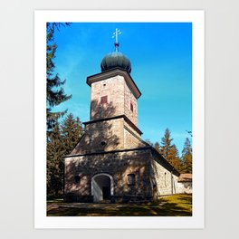 Maria Rast forest chapel | architecture photography Art Print