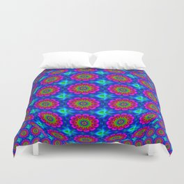 Flower  rainbow-colored Duvet Cover