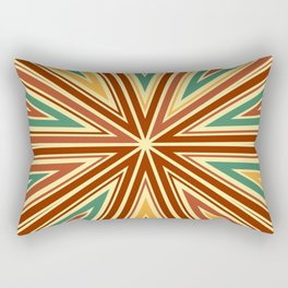 Barcode Sunburst Square (Retro Colours) Rectangular Pillow