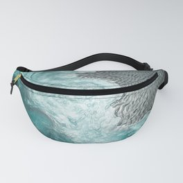 """Sea foam dancing on the blue ocean and gray sand"" Fanny Pack"