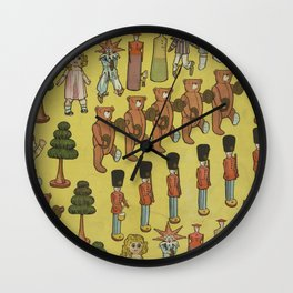 Vintage Christmas Toys and Nut Crackers (1906) Wall Clock