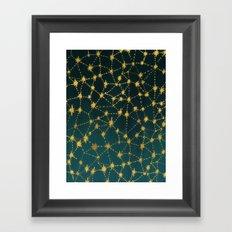 Stars Map Framed Art Print