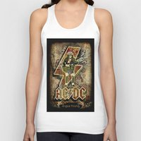 acdc Tank Tops featuring AC/DC angus young by aceofspades81