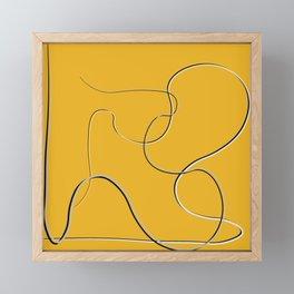 curvy line 3 Framed Mini Art Print