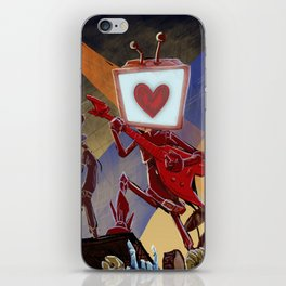 Rock Band Robot iPhone Skin