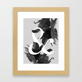 Botanical Ampersand Framed Art Print