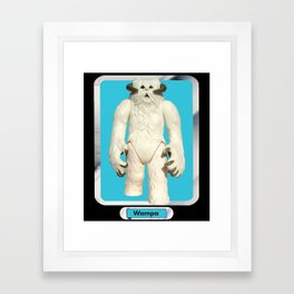 Wampa - Vintage action figure Framed Art Print