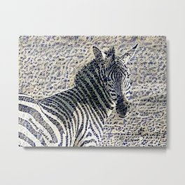 Straight-Laced Metal Print