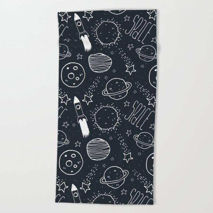 Space Doodles Beach Towel