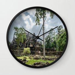 Bayon Temple at Angkor Thom, Siem Reap, Cambodia Wall Clock