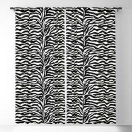 Wild Animal Print, Zebra in Black and White Blackout Curtain