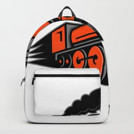 Steam Locomotive Speeding Mascot Backpack