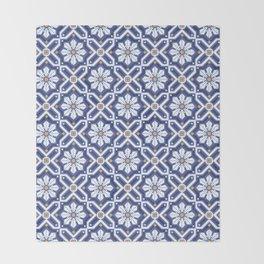 Spanish tiles Throw Blanket