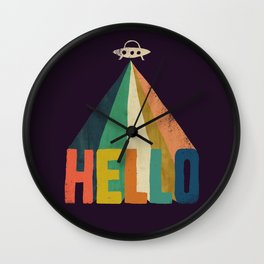 Hello I come in peace Wall Clock