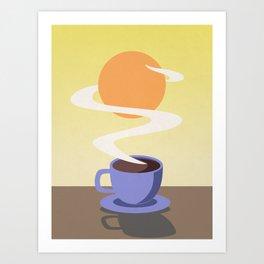 Coffee Sun Art Print
