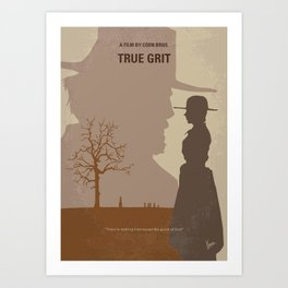 No860 My True grit minimal movie poster Art Print