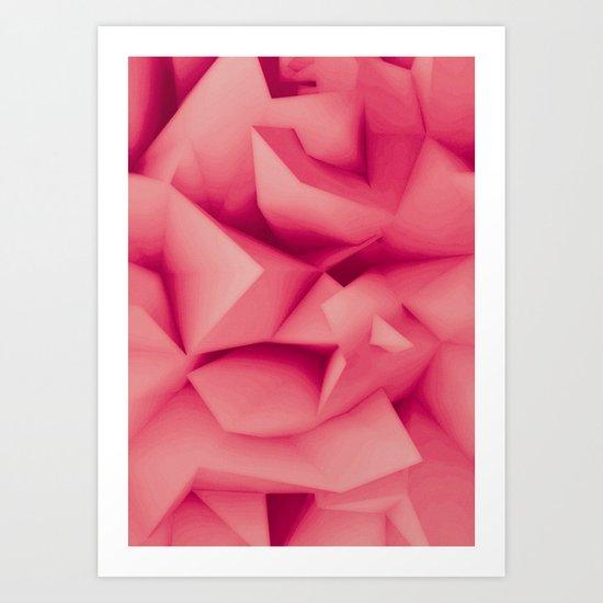 Pink Surface Art Print