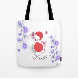 International Women's Day Bubbles N Hearts Tote Bag